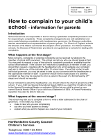 How to complain to your childs - Hertfordshire County Council