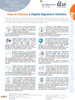 How to Choose a Digital Signature Solution - Alternative Solutions Ltd