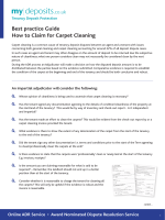 Best practice Guide How to Claim for Carpet Cleaning - My Deposits