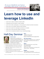 Learn how to use and leverage LinkedIn