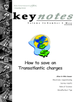 How to save on Transatlantic charges - University of York
