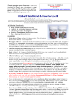 Herbal FiberBlend  How to Use It - Kombucha