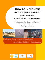 How to implement renewable energy and energy efficiency options