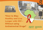 """How to Stay Healthy and Live Longer with HIV – Without - SAfAIDS"