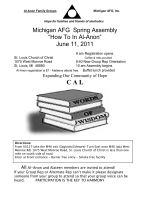 "Michigan AFG Spring Assembly ""How To In Al-Anon"" June 11, 2011"
