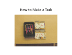 How to Make a Task - Autism Internet Modules