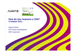 5_ CDA presentation How to measure a CDA NATS - Eurocontrol