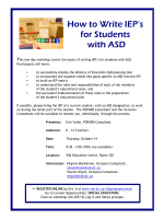 How to Write IEPs for Students with ASD