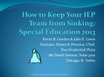 Session 3 How to Keep Your IEP Team From Sinking