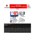 1 HOUR - Las Vegas First Aid CPR  AED Training