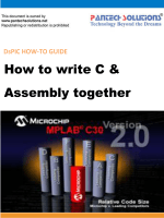 How to write C  Assembly together