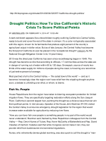 Drought Politics: How To Use Californias Historic Crisis To Score