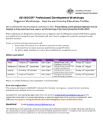 AEI-NOOSR* Professional Development Workshops Beginner