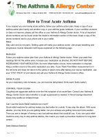 How to Treat Acute Asthma - The Asthma  Allergy Center, PC