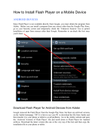 How to Install Flash Player on an Android Device - FMBC
