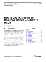 AN3291, How to Use IIC Module on M68HC08, S08, and S12 MCUs