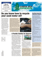 Do you know how to recycle your used motor oil? - City of Santa Ana