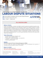 How to Build a Contingency Plan for Labour Dispute - afimac