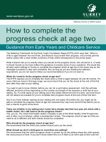 How to complete the progress check at age two - Surrey County