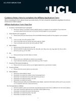 Guidance Notes: How to complete the A liate Application Form