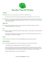 "How to Be a ""Green Pet"" Pet Owner - Annapolis Green"