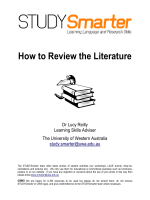 How to Review the Literature - The University of Western Australia