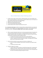 How to bleed Subaru Power Steering systems. - Strong for Subaru