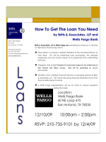 RSVP: 210-735-9101 by 12/4/09 How To Get The Loan You Need