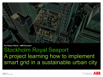 Stockholm Royal Seaport A project learning how to - DI Energi