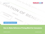 How to Make Reference Pricing Work for Consumers - Families USA