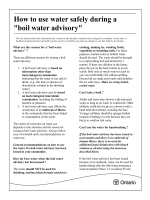 How to use water safely during a boil water advisory