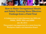 How to Make Occupational Health and Safety Training More