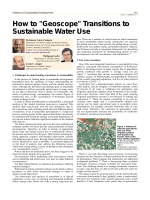 How to Geoscope Transitions to Sustainable Water Use - Potsdam