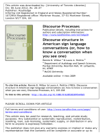 Discourse structure in American sign language conversations (or