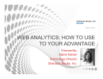 WEB ANALYTICS: HOW TO USE TO YOUR ADVANTAGE