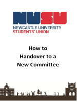 How to Handover to a New Committee - NUSU