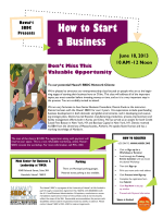 How to Start a Business - Patsy T. Mink Center for Business