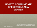 HOW TO COMMUNICATE EFFECTIVELY AS A LEADER