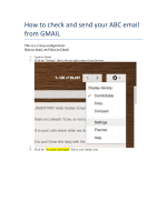 How to check and send your ABC email from GMAIL - ABC Portal