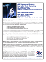ABC Management Seminar: How to Get Work - Marketing ABC