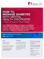 HOW TO MANAGE DIABETES WITH MENTAL HEALTH - Baker IDI