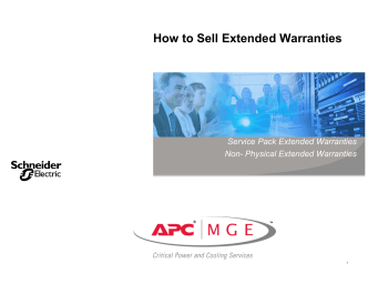 How to Sell Extended Warranties - APC