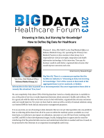 Drowning in Data, but Starving for Knowledge? How to Define Big