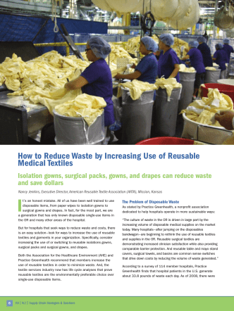 How to Reduce Waste by Increasing Use of Reusable Medical Textiles