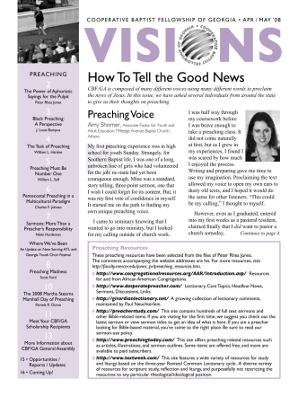 How To Tell the Good News - Georgia Cooperative Baptist Fellowship