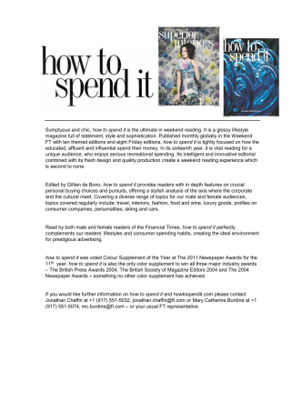 Sumptuous and chic, how to spend it is the ultimate - Fttoolkit.co.uk