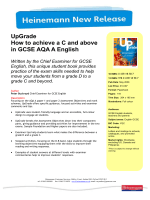 UpGrade How to achieve a C and above in GCSE AQA A English