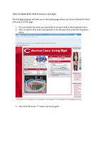 HOW TO ORDER REDS TICKETS Online for ACS Night: The link