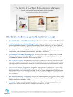 How to: Use the Bento 3 Contact  Customer Manager - FileMaker