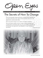 The Secrets of How To Change - Adidam New Zealand